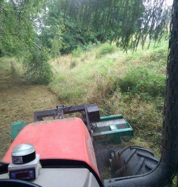 tracteur forestier pour débroussaillage volvestre